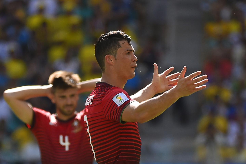Las caras de Cristiano Ronaldo, la frustración de perder.